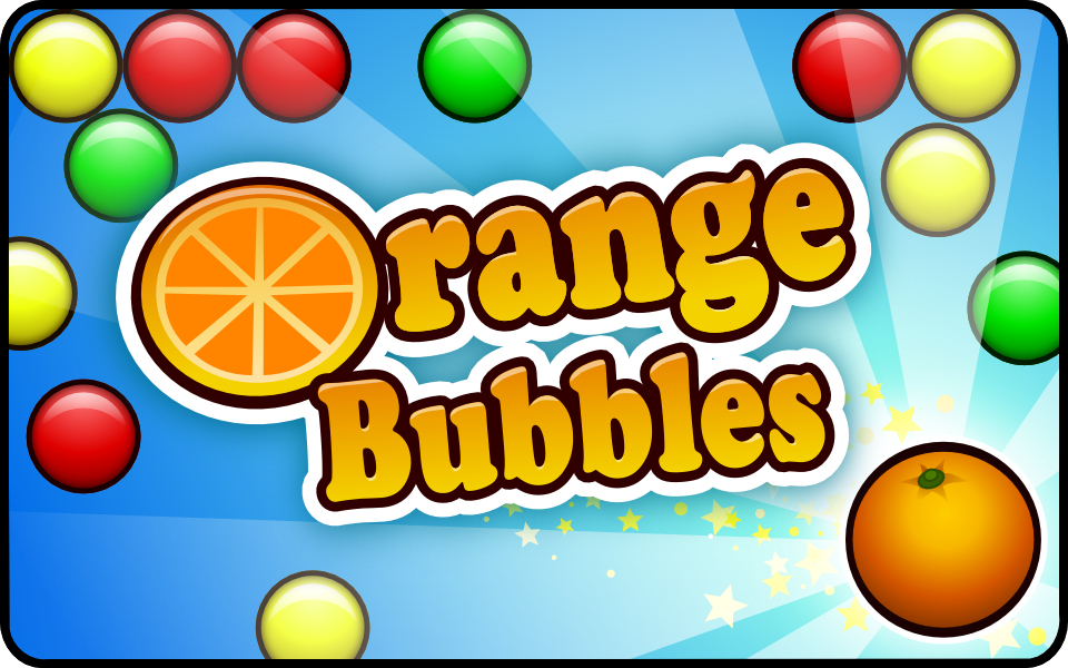 Orange Bubbles - HTML5 bubble shooter available for licensing